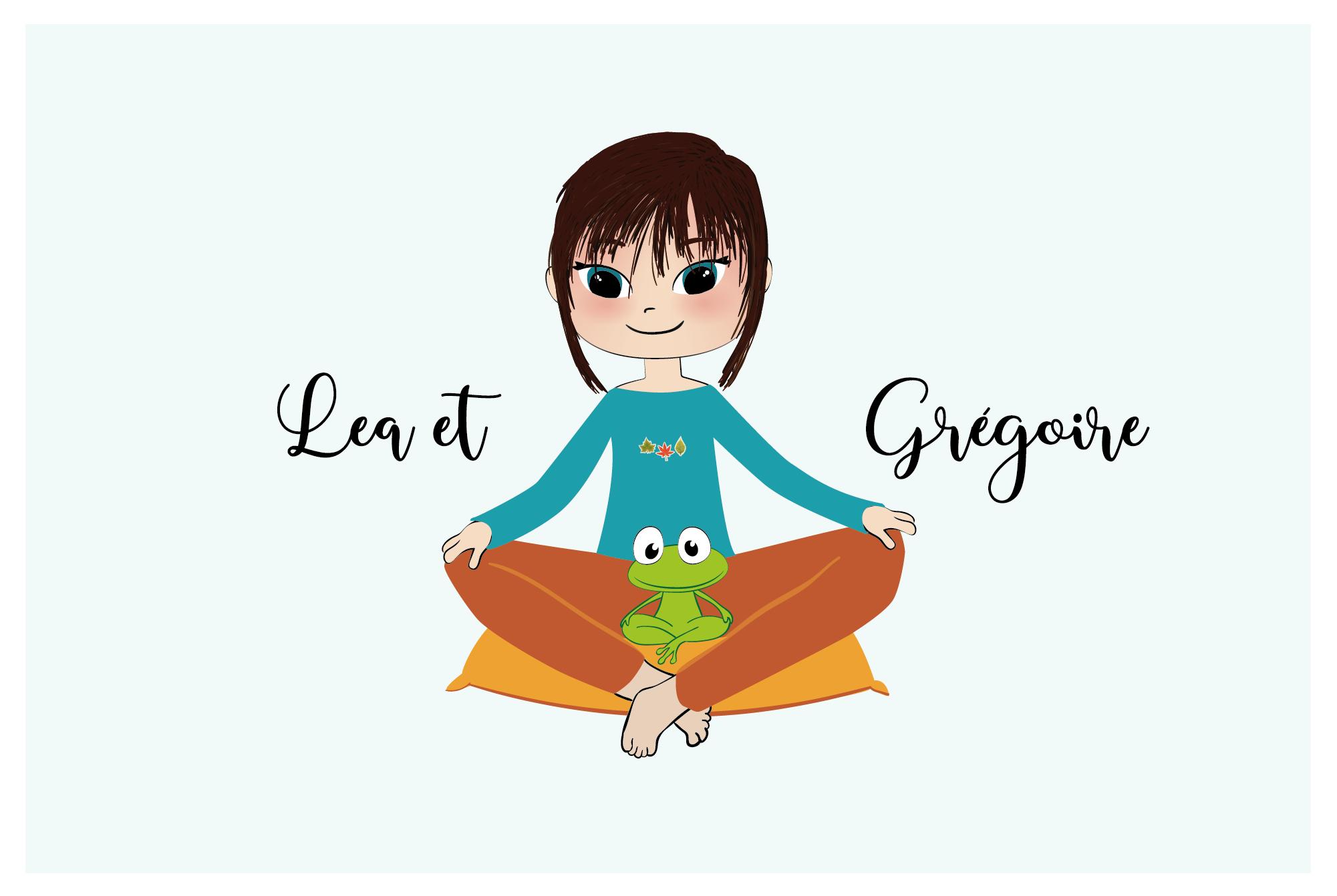 Léa et Grégoire – illustration pleine conscience